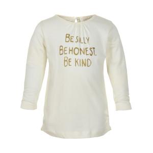 Creamie | T-Shirt Gold Print Ls | 12m-24m | 840132-1103