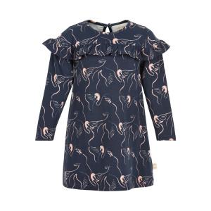 Creamie   Dress Swan Print   12m-24m   840145-7850