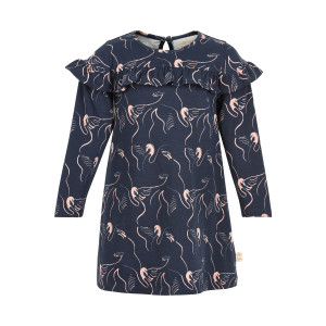 Creamie   Dress Swan Print   3y-6y   840145T-7850
