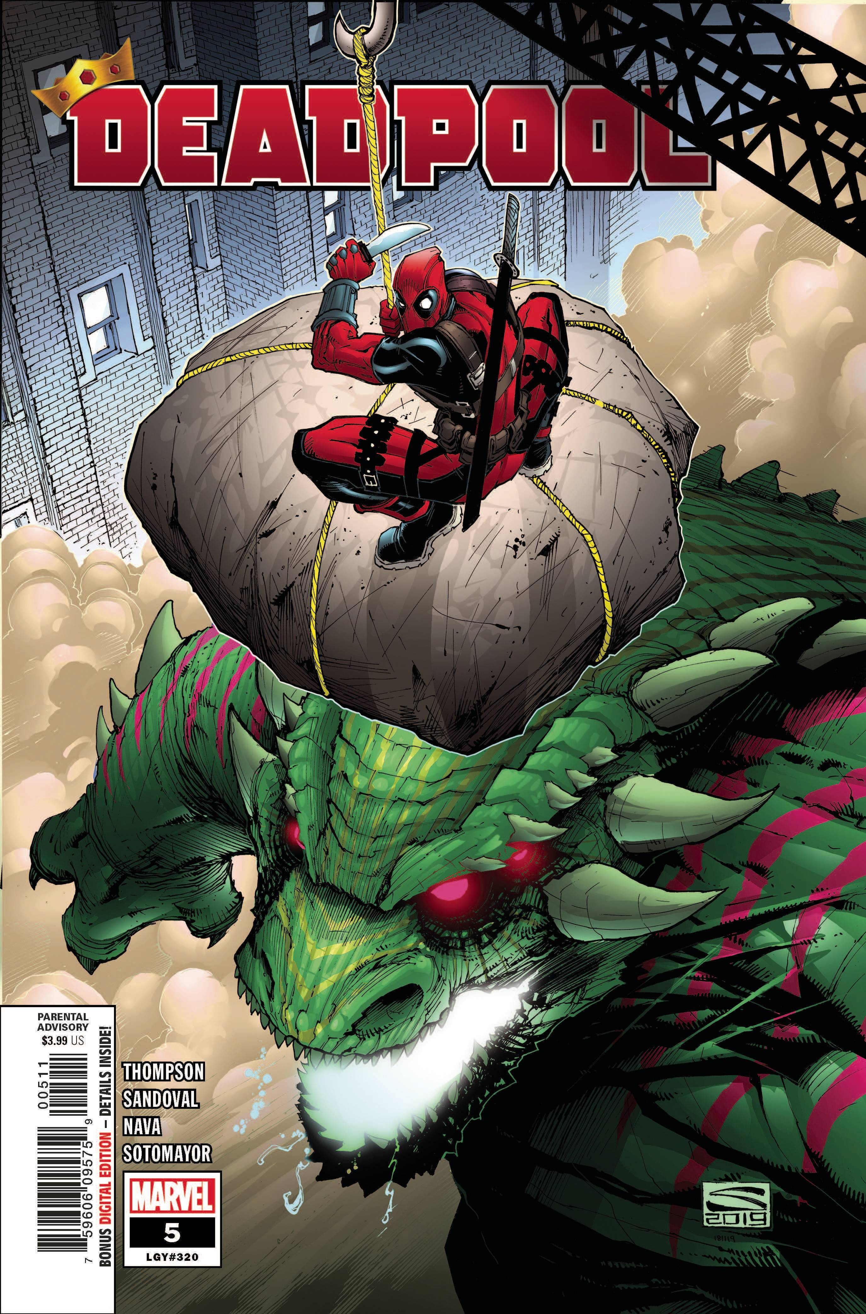 DEADPOOL #2 CVR A  MARVEL COMICS  2019 STOCK IMG