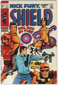 Nick Fury, Agent of S.H.I.E.L.D. #12 FN Front Cover
