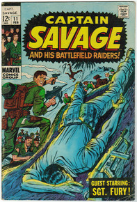 Captain Savage #11 VG Front Cover