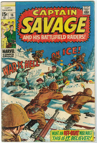 Captain Savage #16 VG Front Cover