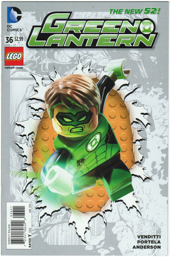 Green Lantern #36 NM Lego Variant Front Cover