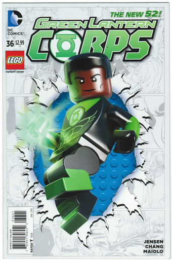Green Lantern Corps #36 NM Lego Variant Front Cover