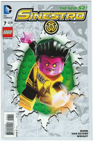 Sinestro #7 NM Lego Variant Front Cover