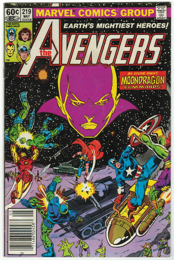 Avengers #219 FN Front Cover