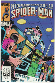Spectacular Spider Man #84 VF Front Cover