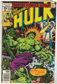 Incredible Hulk #224 VG Front Cover