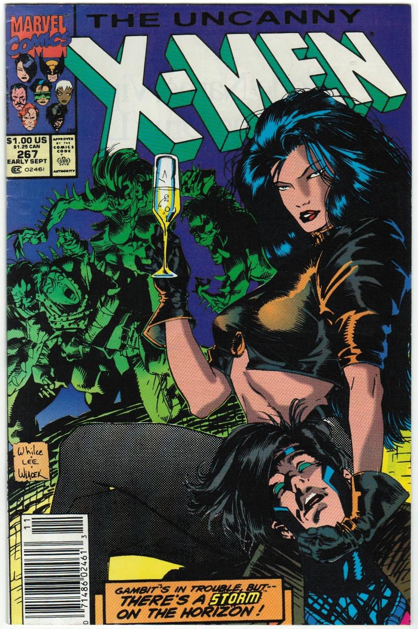 UNCANNY X-MEN #267 PORTACIO 2ND APPEARANCE GAMBIT MARVEL COMICS JIM LEE 1990