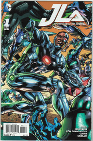 Justice League of America Vol. 4 #1 NM Cyborg Cover Front