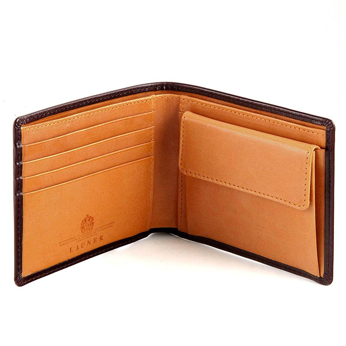 Launer Bridle Hide Wallet 717 Brown Tan  ee173bc33a9a