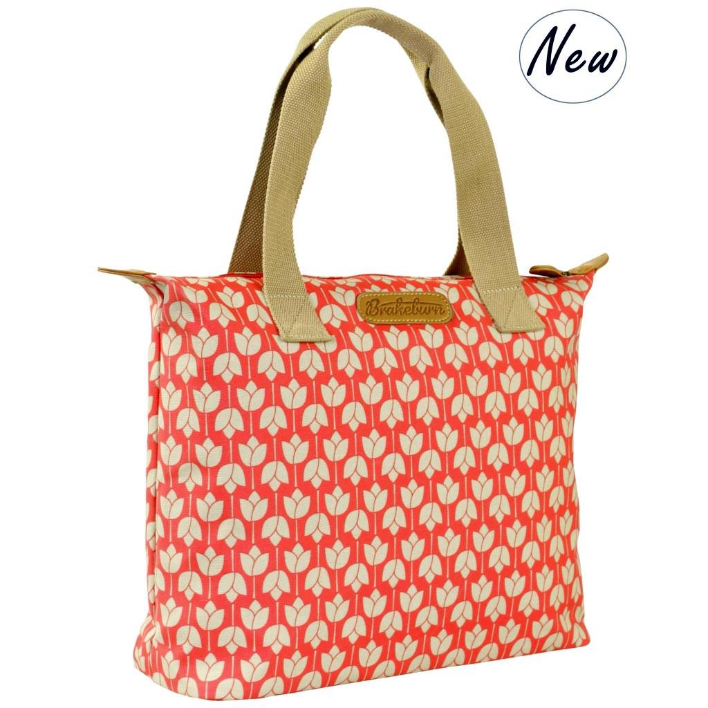 43329244bf Brakeburn Tulip Tote Bag  Coral - adames