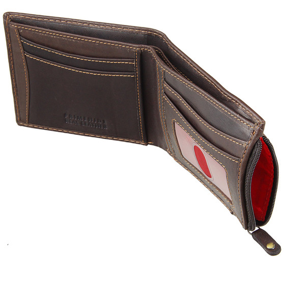 Prime-Hide-Oiled Leather-Wallet-2009-Brown-Zip