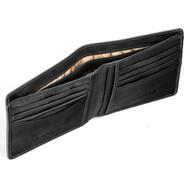 Italian Leather Wallet Tumble & Hide 2020 Black : Open 2