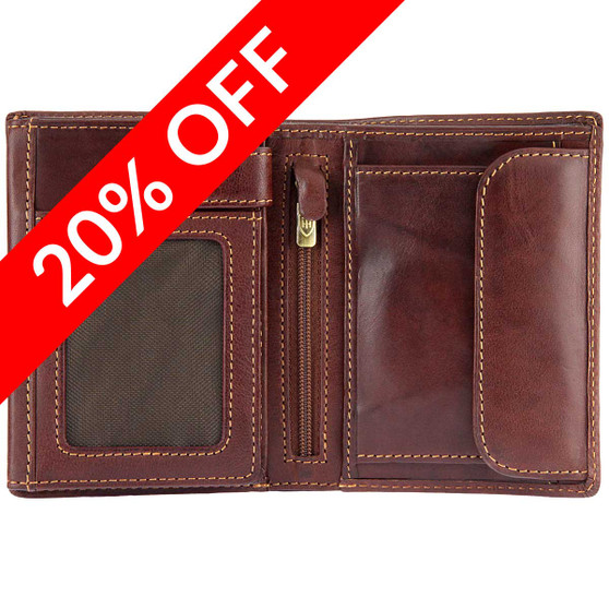 Tumble &  Hide Italian Leather Wallet 2011 THV Brown : 20% Off