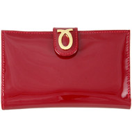 Launer medium new logo purse : Berry Red Patent