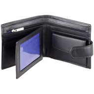 Men's Wallet by Mala Leather 127 Black - Open
