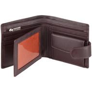 Men's Wallet by Mala Leather 127 Brown - Open