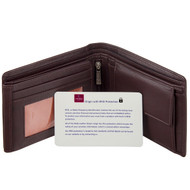 RFID Blocking Leather Wallet by Mala Leather129 Brown - Card