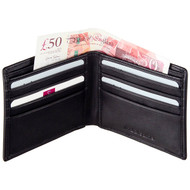 Mala Leather RFID Blocking Wallet 110 Open with cards