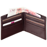 Mala Leather Wallet with RFID Blocking 110 Brown Cards