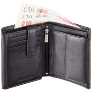 Mala Leather Wallet with RFID Blocking 111 Black with Notes