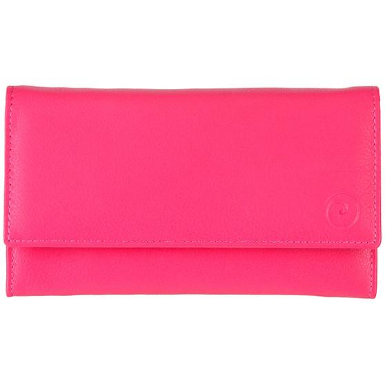 Mala Leather Origin Purse with RFID Shielding: 3272 Pink Inner