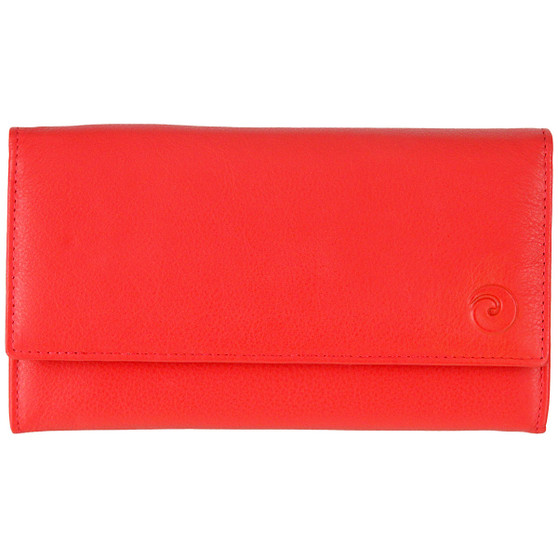 Mala Leather Origin Purse with RFID Shielding: 3272 Red Front