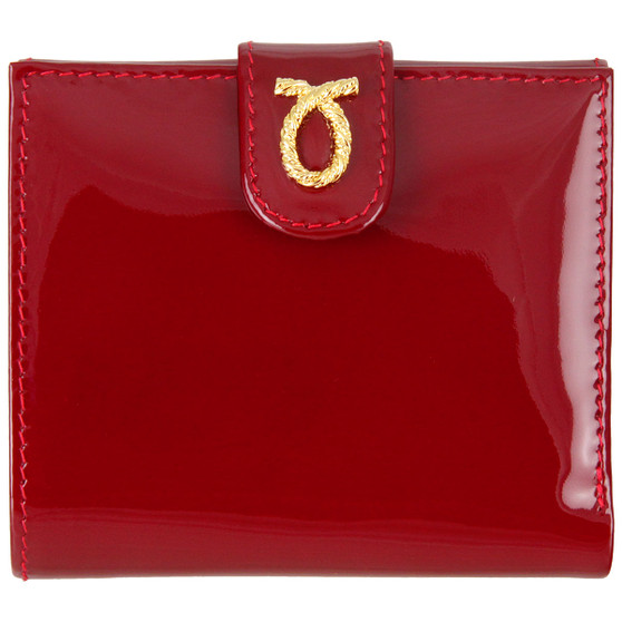 Launer small rope logo purse 685 berry patent front