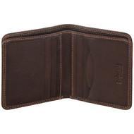 Golunski Small Leather Wallet Oak 7-707 Brown: Open