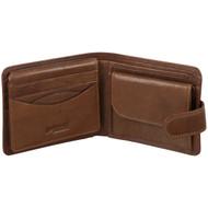 Golunski Leather Wallet Oak 7-704 Tan : Open