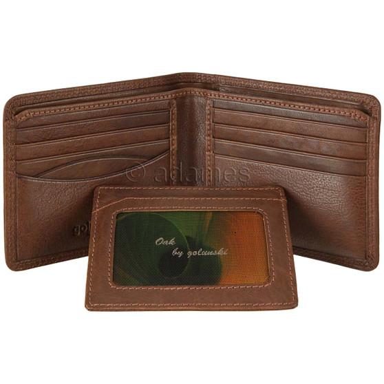Golunski Leather Wallet Oak 7-712 Tan : With Card Holder