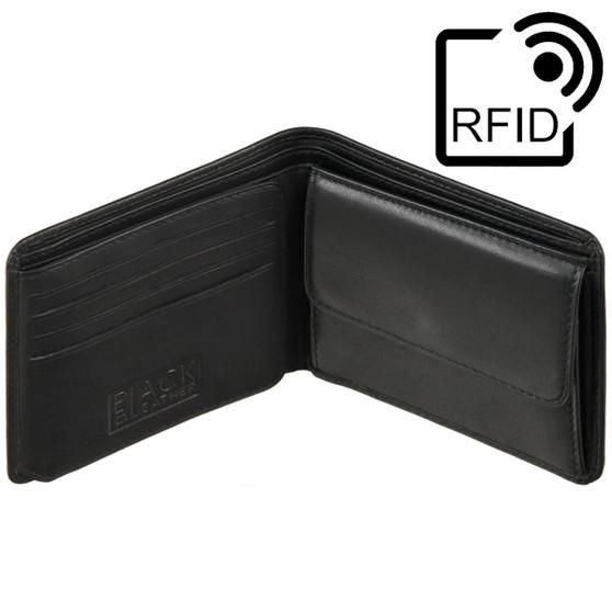Golunski Black Wallet BM605: Leather Wallet with RFID Protection Symbol