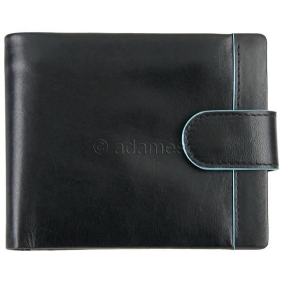 Golunski Men's Leather Wallet 5-554 Black/Blue : Front