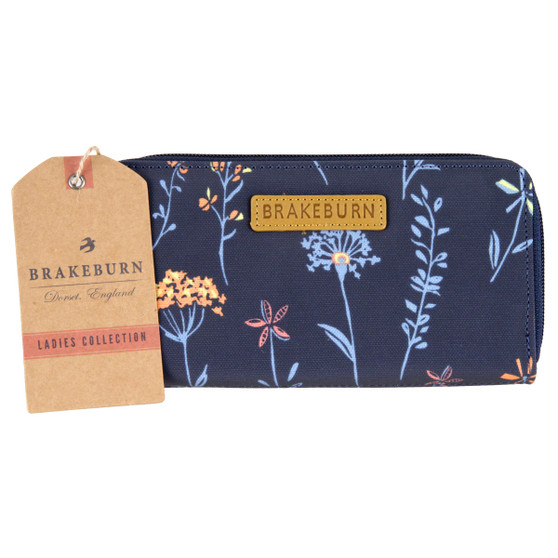 Brakeburn Summer Dandelion Zip Round Purse : Front with Tag