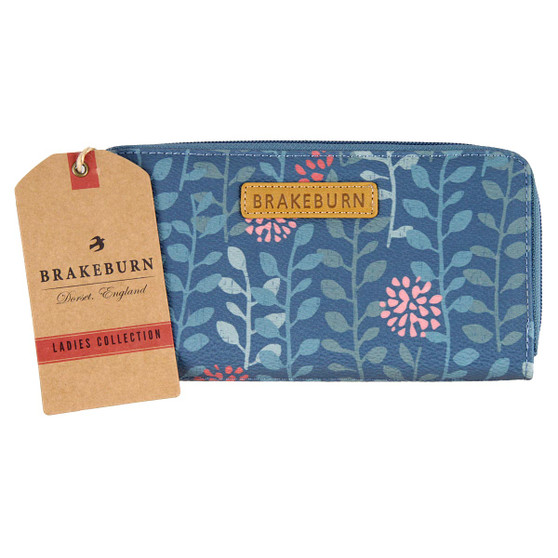 Brakeburn Trailing Leaf Zip Round Purse F17 : Front with tag