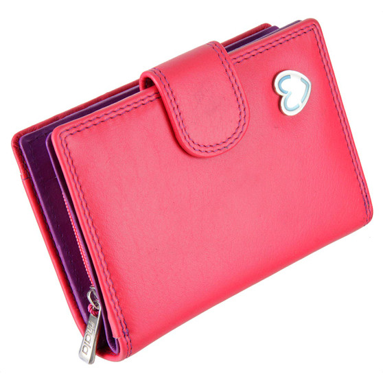 Waller Purse with RFID Protection Tabitha by Mala Leather 3188 Pink: Front