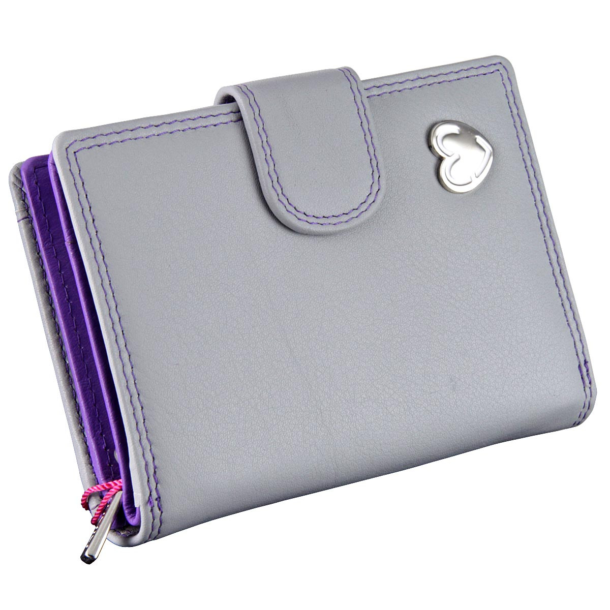 Wallet Purse with RFID Protection : Grey Tabitha 3118