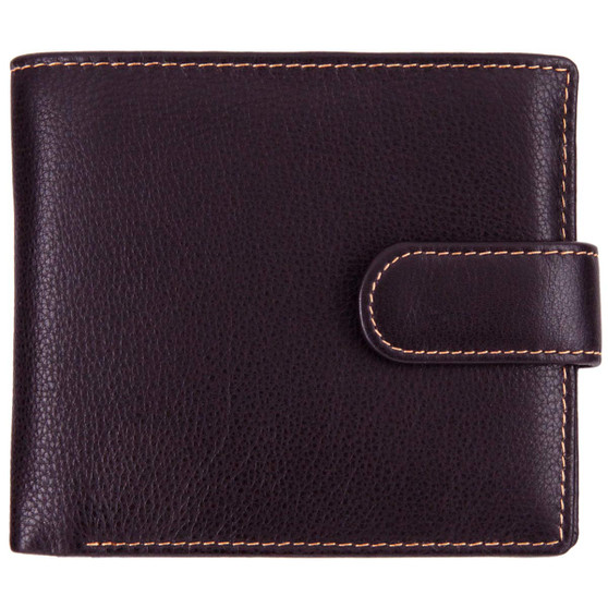 Leather wallet with coin-pocket axis-163 brown/amber : front