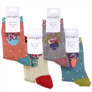 Thought Bamboo Socks SPW483 Flora Flowers 4 Pairs