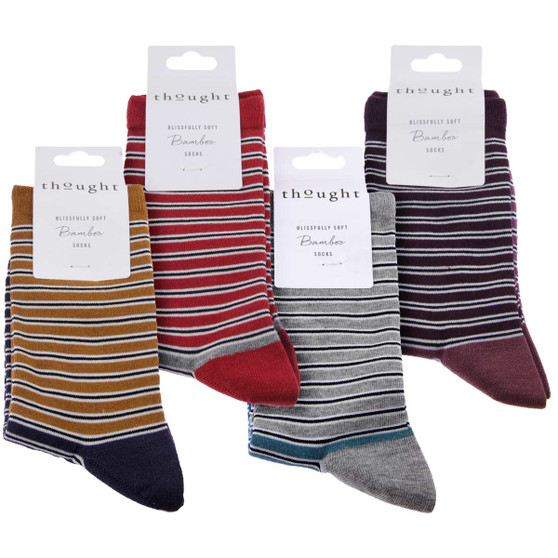 Thought Women's Bamboo Socks SPW494 Isabel : 4 Pairs