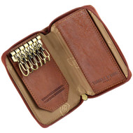 Tumble and Hide Italian Leather Kay Case Cognac : Open