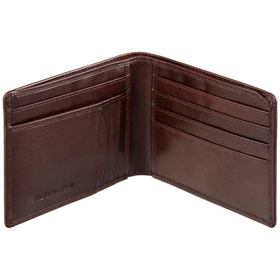 Mala Leather Toro Collection Slim Wallet 168 Brown :  Open