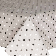 Wipe Clean Tablecloth : Loneta Spots Grey