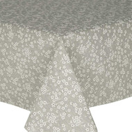 Prestons Wipe Clean Acrylic Coated Tablecloth; Loneta Fleur Grey