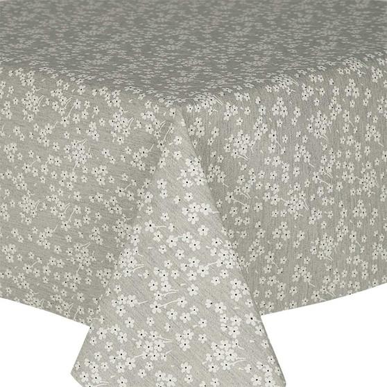 Prestons Wipe Clean Acrylic Coated Tablecloth; Loneta Fleur Grey