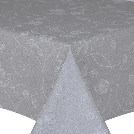 Prestons Wipe Clean Acrylic Coated Tablecloth : Loneta Stencil Leaf