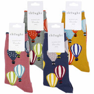 Thought Women's Bamboo Socks SPW593 Louise Air Balloons: 4 Pairs