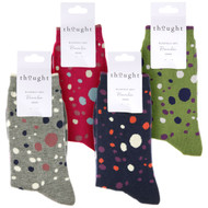 Thought Women's Bamboo Socks SPW671 Lucille: 4 folded pairs showing colours